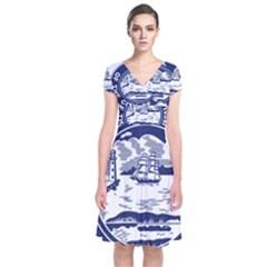 Seal of Buffalo Short Sleeve Front Wrap Dress