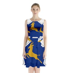 Roundel Of The South African Air Force, 1958 1981 Sleeveless Waist Tie Dress