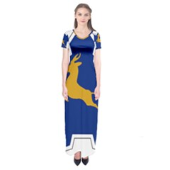 Roundel of the South African Air Force, 1958-1981 Short Sleeve Maxi Dress