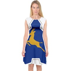 Roundel of the South African Air Force, 1958-1981 Capsleeve Midi Dress