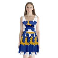 Roundel of the South African Air Force, 1958-1981 Split Back Mini Dress