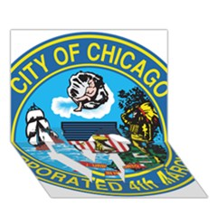 Seal of Chicago LOVE Bottom 3D Greeting Card (7x5)