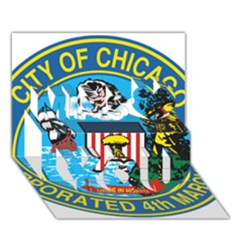 Seal of Chicago Miss You 3D Greeting Card (7x5)