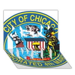 Seal of Chicago Get Well 3D Greeting Card (7x5)