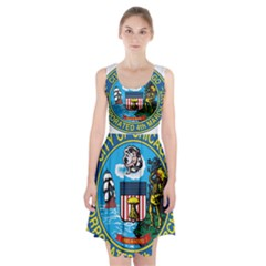 Seal Of Chicago Racerback Midi Dress