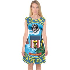Seal of Chicago Capsleeve Midi Dress