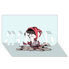 Bad Bitch Red #1 Dad 3d Greeting Card (8x4)