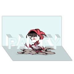 Bad Bitch Red PARTY 3D Greeting Card (8x4)