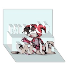 Bad Bitch Red Miss You 3D Greeting Card (7x5)