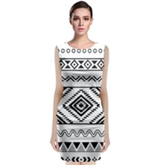 Bw Pattern Classic Sleeveless Midi Dress