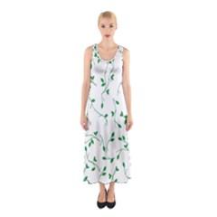 Nature Pattern Sleeveless Maxi Dress