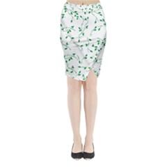 Nature pattern Midi Wrap Pencil Skirt