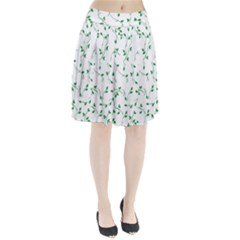 Nature pattern Pleated Skirt