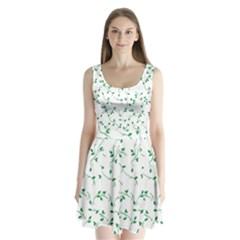 Nature pattern Split Back Mini Dress