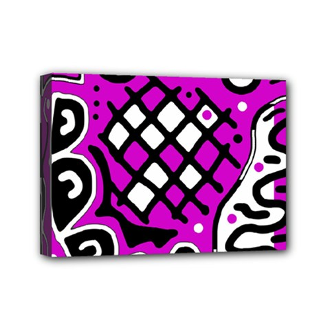 Magenta high art abstraction Mini Canvas 7  x 5