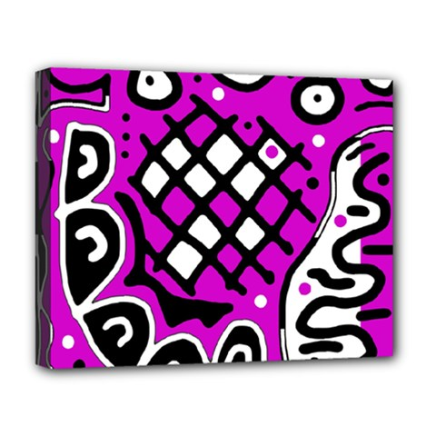 Magenta high art abstraction Deluxe Canvas 20  x 16