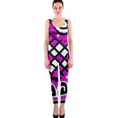 Magenta high art abstraction OnePiece Catsuit