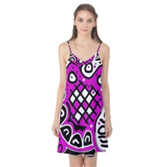 Magenta high art abstraction Camis Nightgown