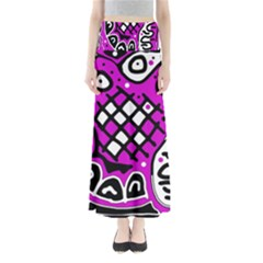 Magenta high art abstraction Maxi Skirts