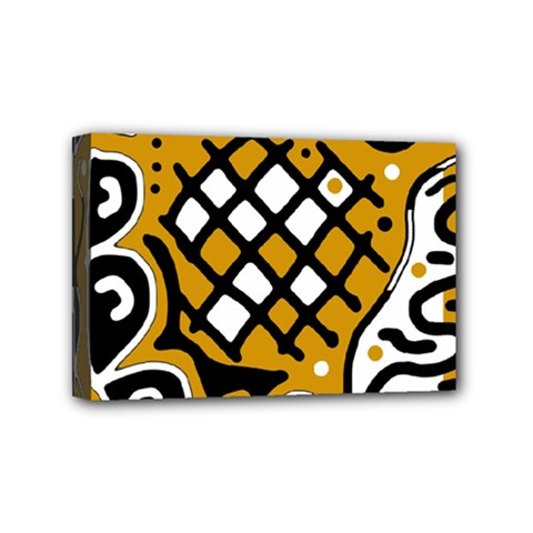 Yellow high art abstraction Mini Canvas 6  x 4