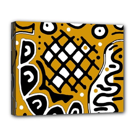 Yellow high art abstraction Deluxe Canvas 20  x 16