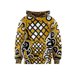 Yellow high art abstraction Kids  Pullover Hoodie