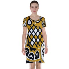 Yellow high art abstraction Short Sleeve Nightdress