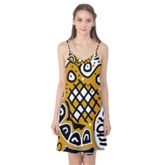 Yellow high art abstraction Camis Nightgown