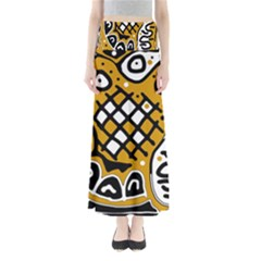 Yellow high art abstraction Maxi Skirts