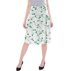 Nature pattern Midi Beach Skirt