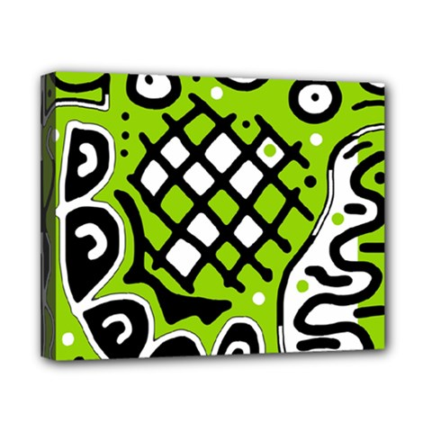 Green high art abstraction Canvas 10  x 8