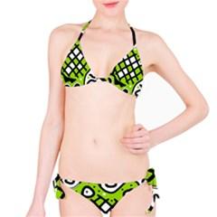 Green high art abstraction Bikini Set