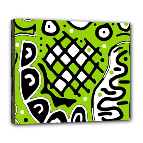Green high art abstraction Deluxe Canvas 24  x 20
