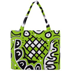 Green high art abstraction Mini Tote Bag