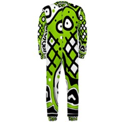 Green high art abstraction OnePiece Jumpsuit (Men)