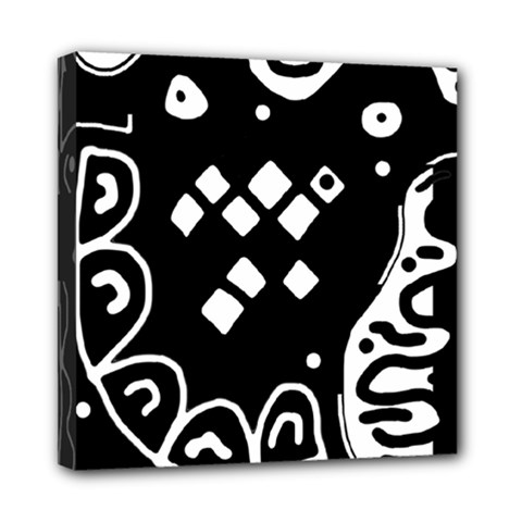 Black and white high art abstraction Mini Canvas 8  x 8