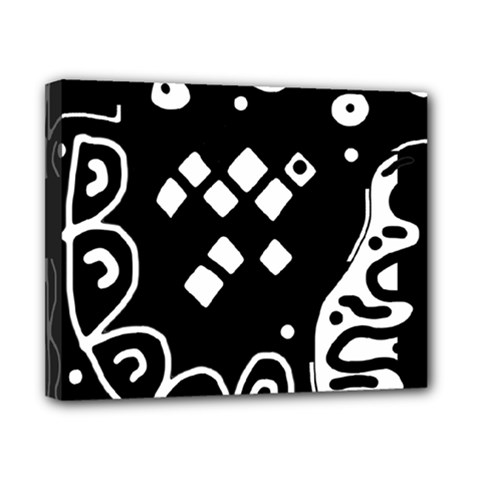 Black and white high art abstraction Canvas 10  x 8