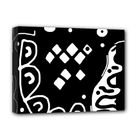 Black and white high art abstraction Deluxe Canvas 16  x 12