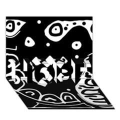 Black and white high art abstraction HOPE 3D Greeting Card (7x5)