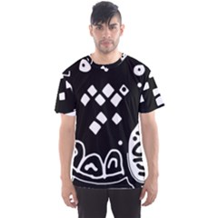 Black and white high art abstraction Men s Sport Mesh Tee