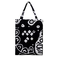 Black and white high art abstraction Classic Tote Bag