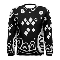 Black and white high art abstraction Men s Long Sleeve Tee