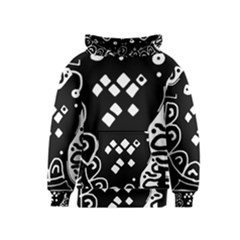 Black and white high art abstraction Kids  Pullover Hoodie