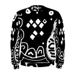 Black and white high art abstraction Men s Sweatshirt
