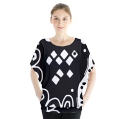Black and white high art abstraction Blouse