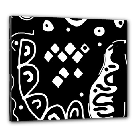 Black and white high art abstraction Canvas 24  x 20