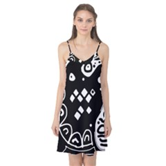 Black and white high art abstraction Camis Nightgown