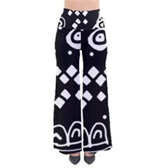 Black and white high art abstraction Pants