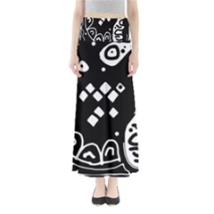 Black And White High Art Abstraction Maxi Skirts