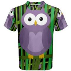 Purple owl Men s Cotton Tee
